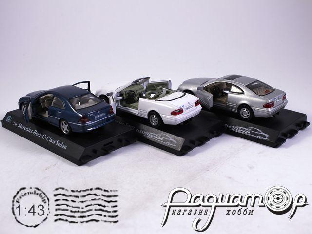 Набор Mercedes-Benz C-Сlass Sedan + Mercedes-Benz CLK 320 Convertible + Mercedes-Benz CLK 320 Coupe (B)
