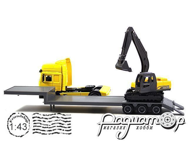 MAN F2000 с автоплатформой и экскаватором (1994) 180405