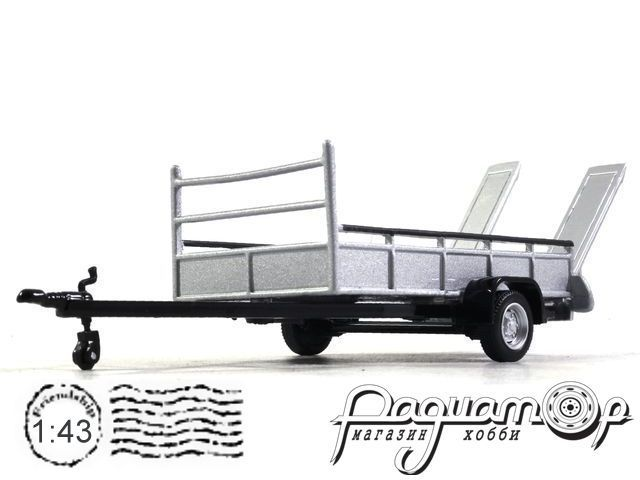 Car transporter trailer with 2 tires 251PND-TT-S