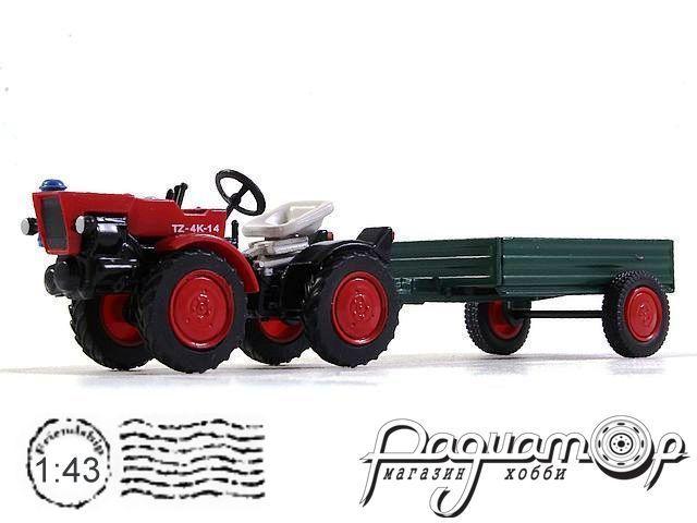Тракторы №86, TZ-4K-14 с прицепом (1970)
