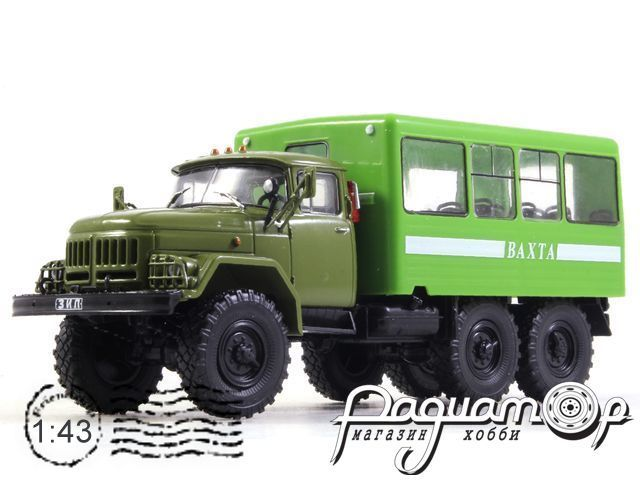 Автолегенды СССР Грузовики №27, Вахтовый автобус 42104 (ЗиЛ-131НА) (1966)