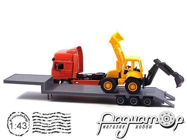 MAN F2000 с автоплатформой и бульдозером (1994) 180709