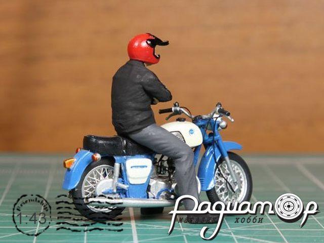 Мотоциклист Толя (для Иж Планета-3) красный шлем mototoly1