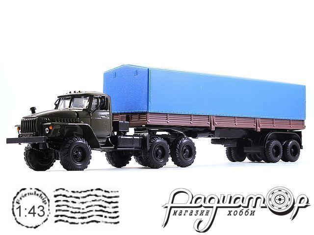 УРАЛ-44202 с полуприцепом с тентом (1983) 2010-4