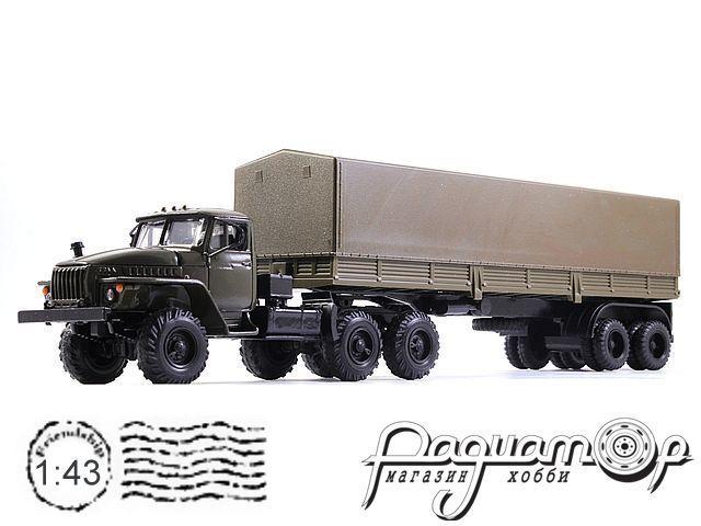 УРАЛ-44202 с полуприцепом с тентом (1983) 2010-5