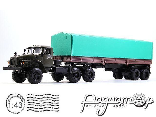 УРАЛ-44202 с полуприцепом с тентом (1983) 2010-3