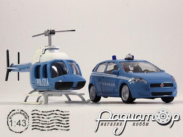 Набор Fiat Punto Polizia + Вертолет (2005) 915247