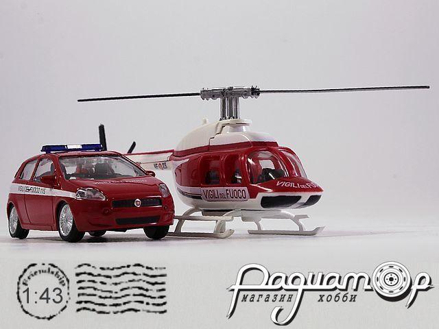 Набор Fiat Punto Vigili del Fuoco + Вертолет (2005) 915248