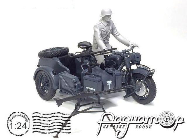 Мотоцикл BMW R75 с пулеметом и фигуркой (1941) 915114