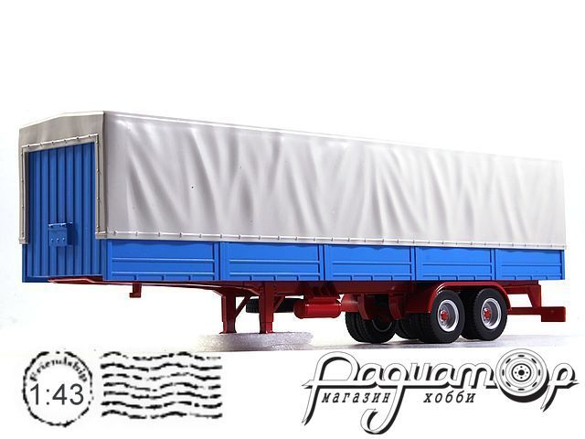 Auflieger Truck Trailer with Canvas Cover TRL001