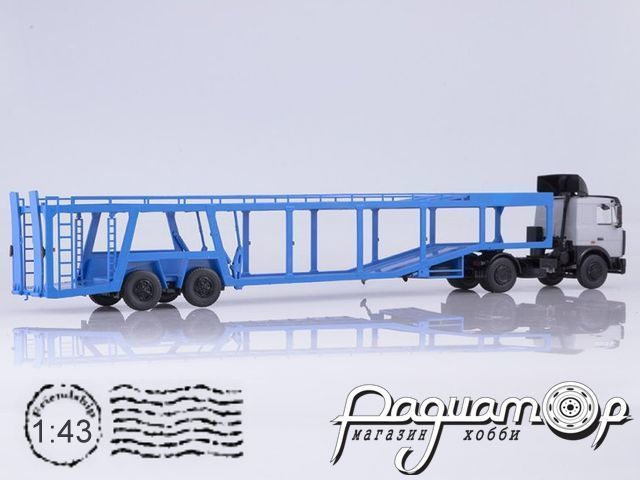МАЗ-5432 с полуприцепом-автовозом 934410 (А908) (1989) SSM7052
