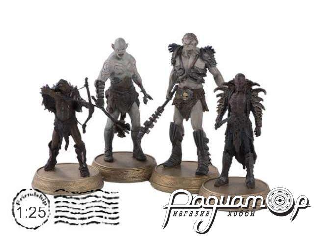 Набор фигурок The Orcs Azog, Bolg, Narzug and Yazneg H702