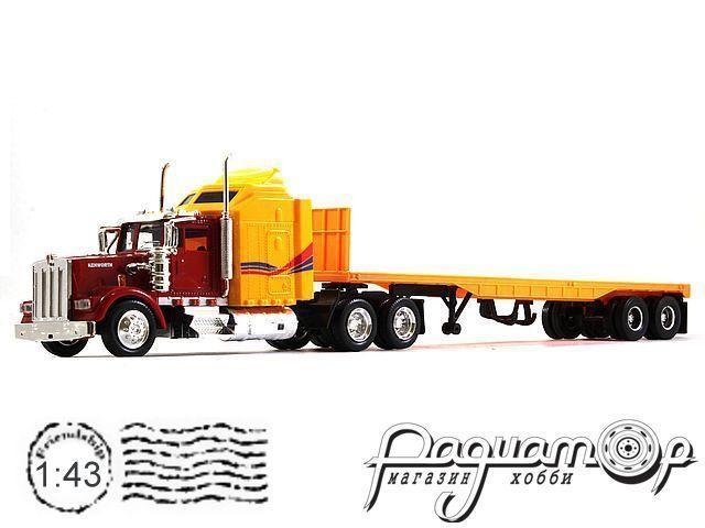 Kenworth W900 с полуприцепом-платформой (1986) 915273*