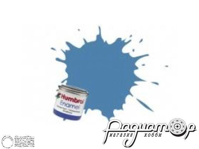 Краска эмалевая Нитро, голубая матовая (14мл) HUM-N109