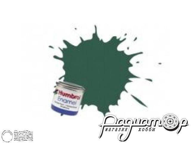 Краска эмалевая Нитро, зеленая темная США матовая (14мл) HUM-N116