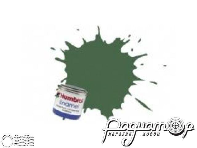 Краска эмалевая Нитро, зеленая светлая США матовая (14мл) HUM-N117