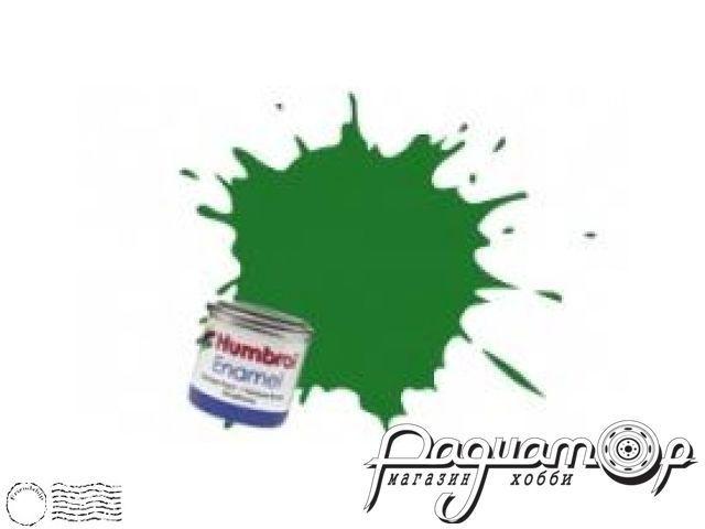 Краска эмалевая Нитро, зеленая сатин (14мл) HUM-N131