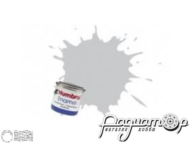Краска эмалевая Нитро,  серая светлая матовая (14мл) HUM-N147