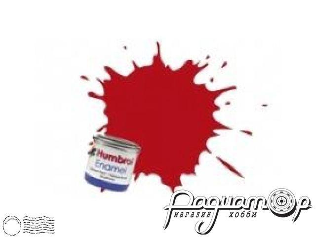 Краска эмалевая Нитро, красная матовая (14мл) HUM-N153