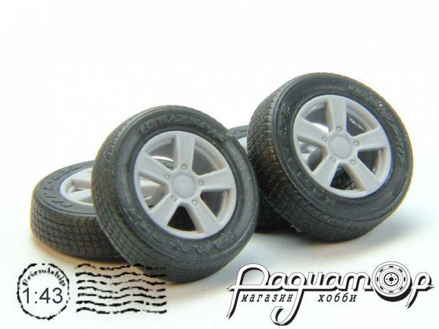 Набор колес для ВАЗ-2121 (литой диск, резина КАМА-232) GM007