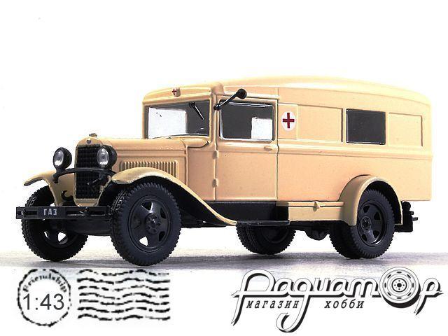 Автолегенды СССР и Соцстран №249, ГАЗ-55 гражданская санитарка (1938)