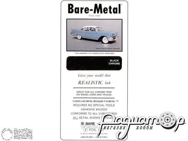 Самоклеющаяся фольга Black Chrome (черный хром) (152х298мм) BMF-007