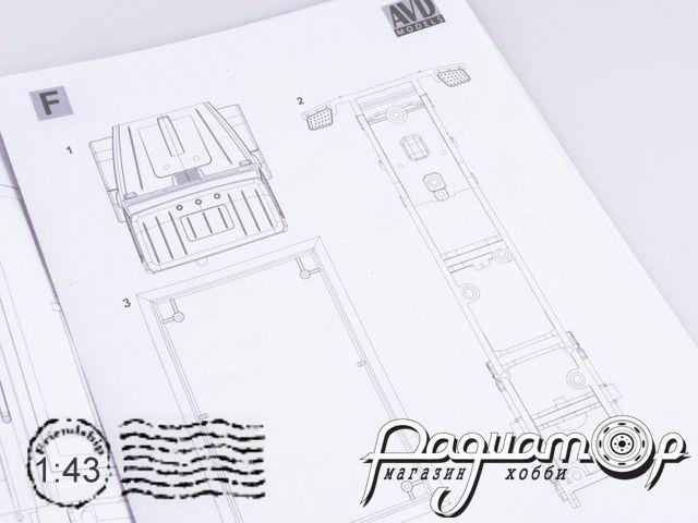 Сборная модель Ремонтно-жилищная мастерская РЖМ-52 (4333) (1986) 1213KIT