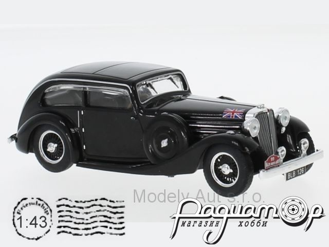 Jaguar SS1 Airline Coupe, №99, Rallye Monte Carlo, Sydney, H. Light, (1935) RAC275