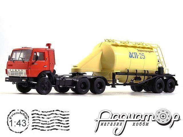 КамАЗ-54112 с полуприцепом-муковозом АСП-25 (1980) 101125