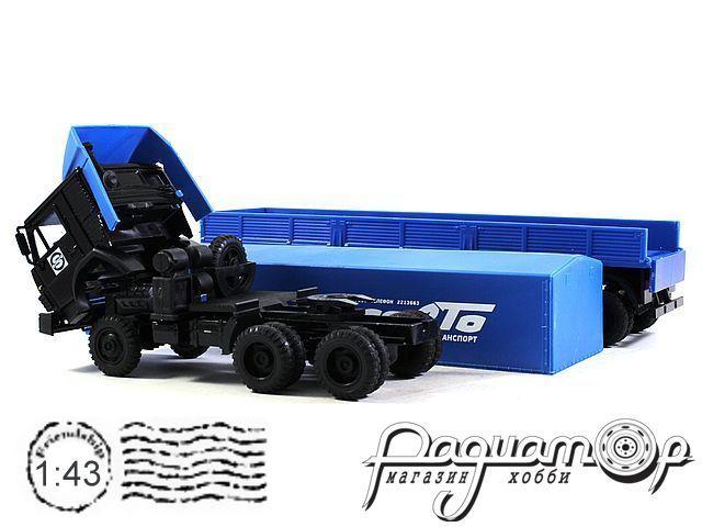 КамАЗ-54115 (пластиковый спойлер) с полуприцепом с тентом