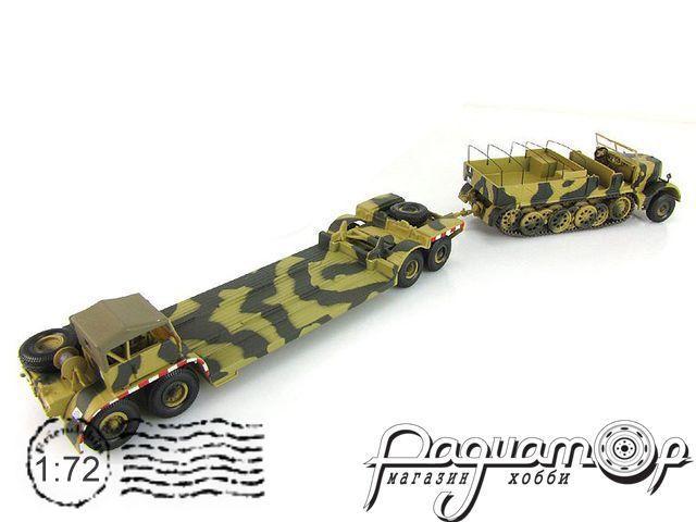 Sdkfz 9 famo 18 tonnes rimorchio 432 remorque for Porte char 60 tonnes