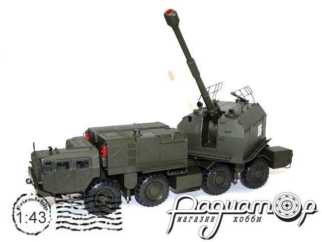 Сборная модель Береговой мобильный артиллерийский комплекс А-222