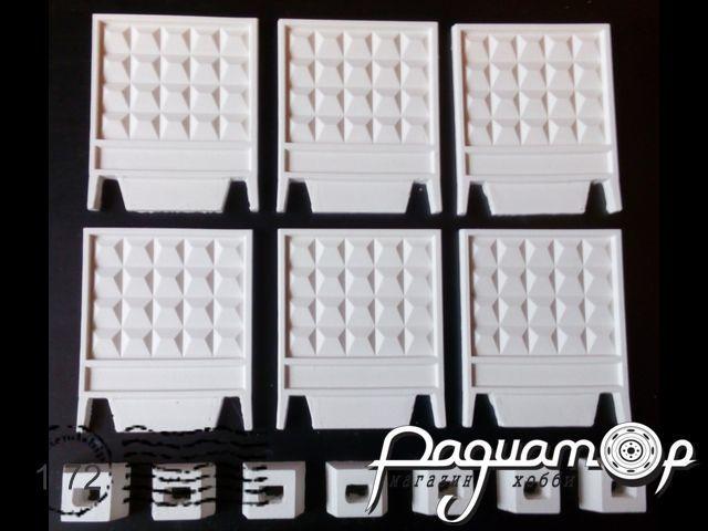 Забор бетонный ПО-2м со стаканами (6 плит + 7 стаканов) BL7215