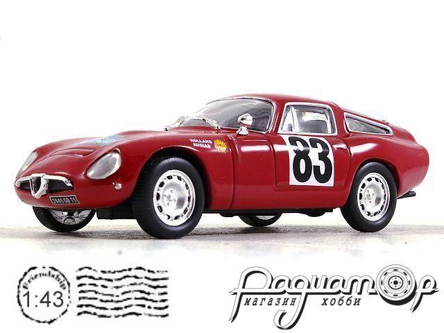 Alfa Romeo TZ Tubolare Zagato №83 Coupe des Alpes, J. Rolland G. Augias (1964) CIXJ000024 (TI)