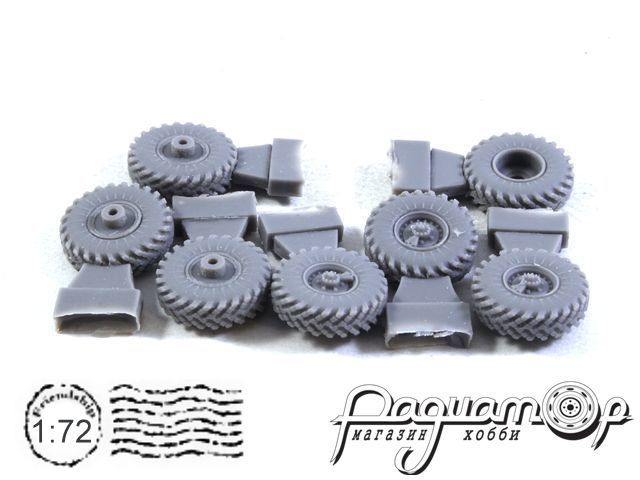 Колеса с покрышками К-70 для ЗИЛ-157/БТР-152 (1:72) BM7214
