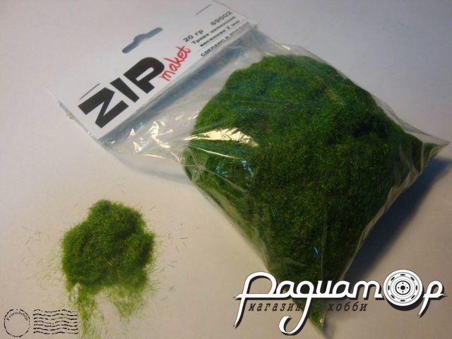 Трава зеленая, весенняя, 2мм (20г) 69002