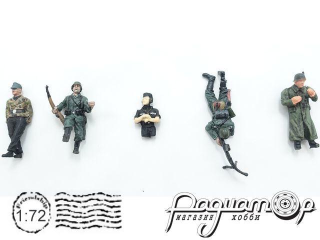Набор фигурок немецких солдатов WWII (5шт) P0401