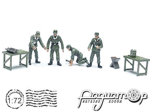 Набор фигурок немецких механиков WWII (4шт) P0405