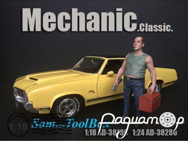 Фигурка Mechanic Sam with Tool Box AD38180