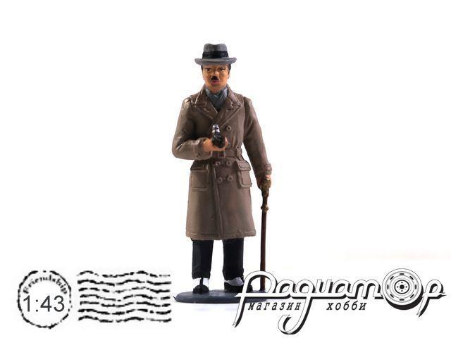 Джентльмен с тростью и трубкой AU088