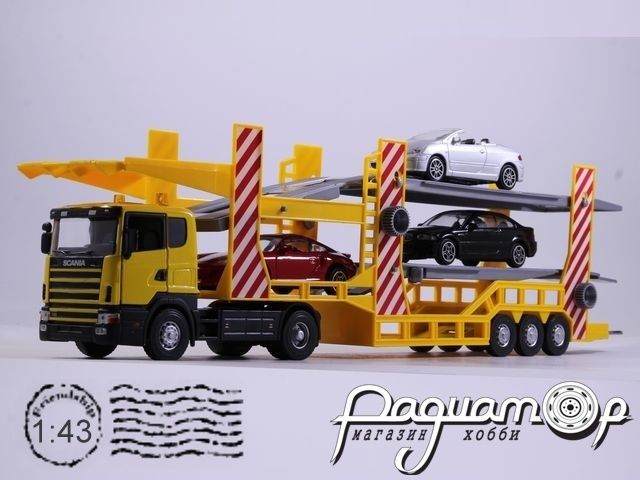Scania Transporter + Porsche 911 Turbo + BMW M3 + Peougeot 307CC (1995) 2159-03