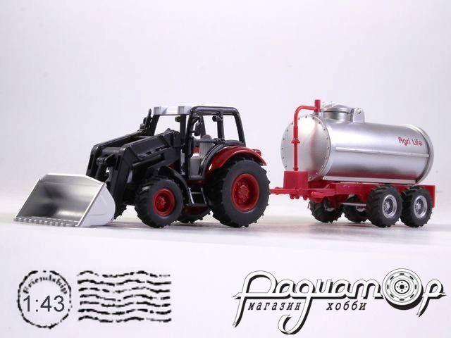 Lindner Farm Tractor с сельскохозяйственным прицепом-цистерной (2010) 4120