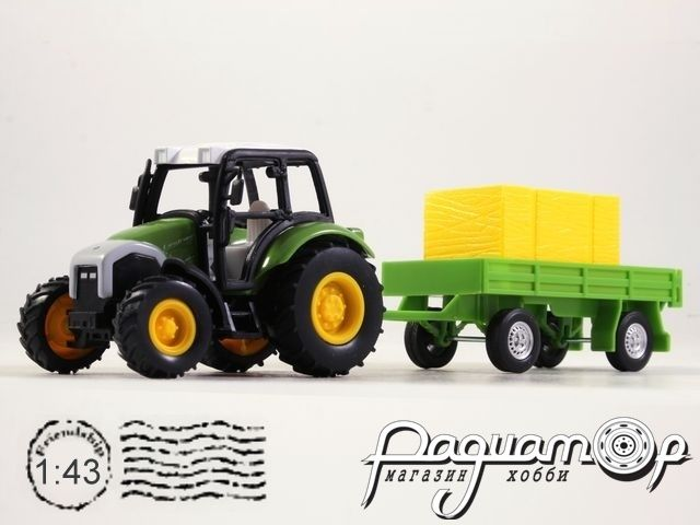 Lindner Farm Tractor с сельскохозяйственным прицепом (2010) 4109-02