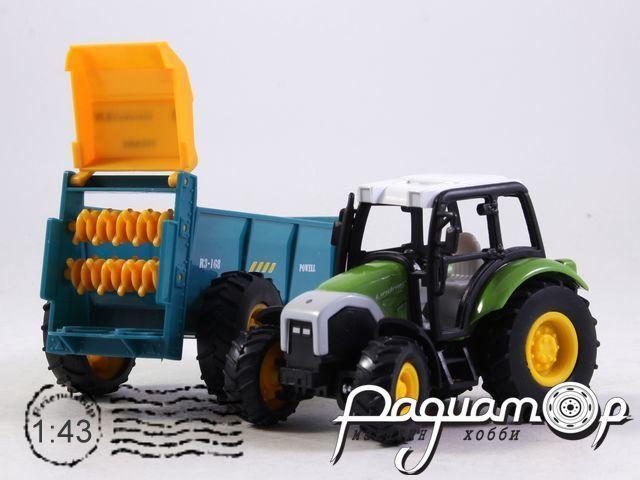 Lindner Farm Tractor с сельскохозяйственным прицепом (2010) 4109-01