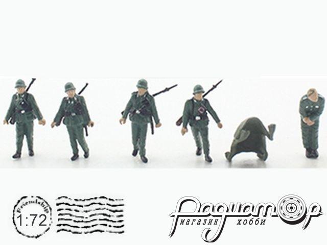 Набор фигурок немецких солдатов WWII (5шт) P0409