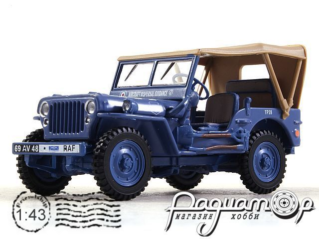 Jeep Willys 1/4 Ton Army Raf Military Closed (1941) 91840