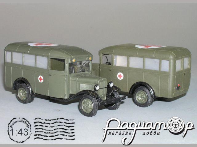 Сборная модель ГАЗ 03-30 санитарный (1938) K2-90.1