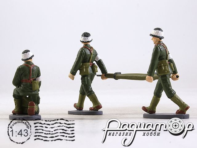 Набор фигурок French Sanitairy Soldiers (3шт) MIL13G02-03