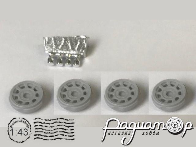 Диски Арбат для ВАЗ-21213 и их модификаций, с хромированными колпачками ступиц (4шт) MM4016