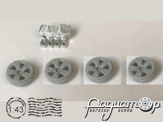 Диски Эвридика для ВАЗ-21213 и их модификаций, с хромированными колпачками ступиц (4шт) MM4017